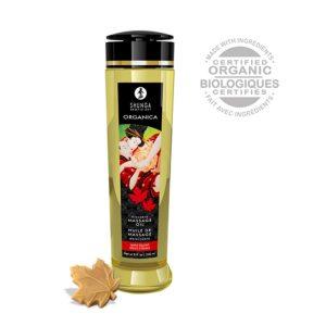 huile de massage organica à lÉrable