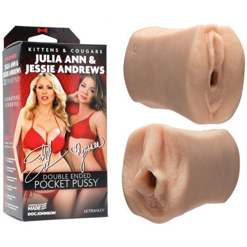 Masturbateur double Jessie Andrews et Julia Ann