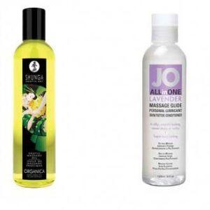Crème, gel et huile de massage